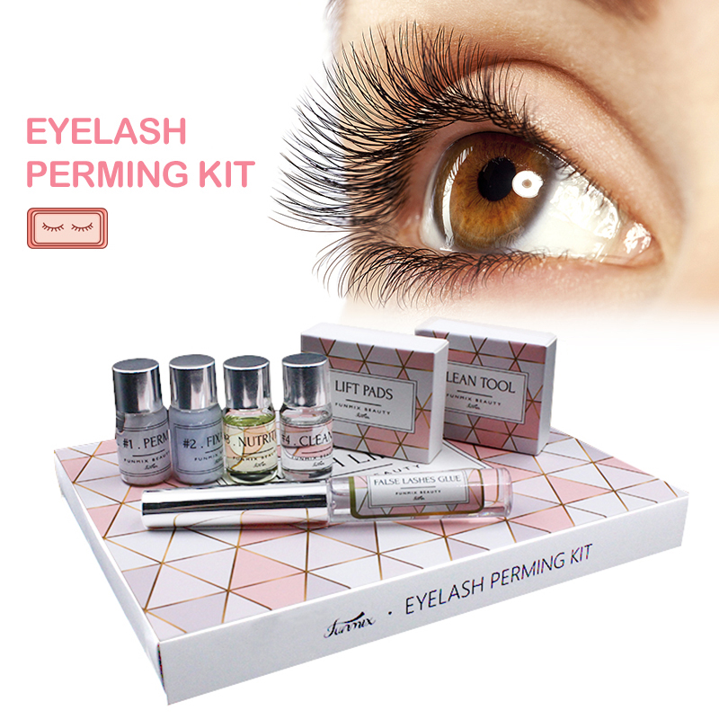 Funmix Perming-Kit Lifting-Extension Eyelash Professional Mini For Cilia With Rods-Glue