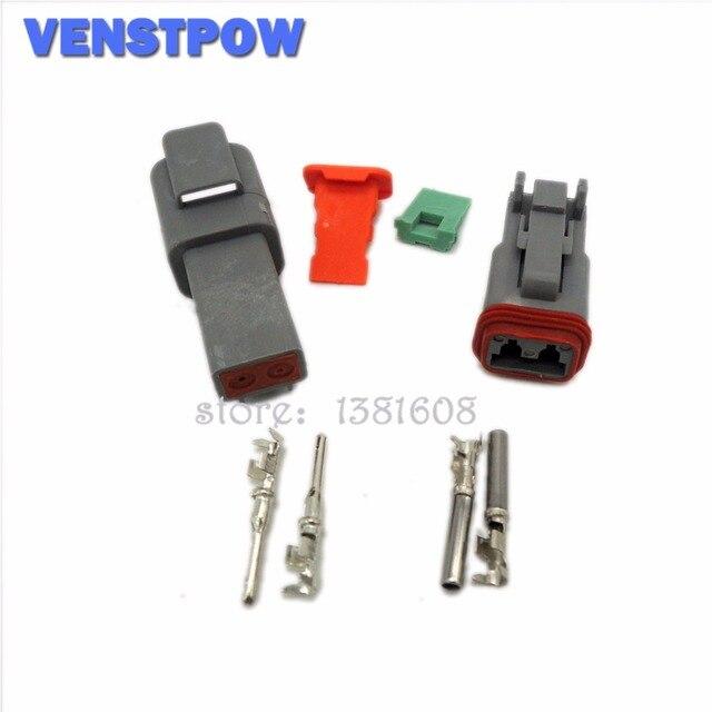 10 Sets Deutsch DT06/DT04 2/3/4/6/8/12 Pin Waterproof Electrical ...