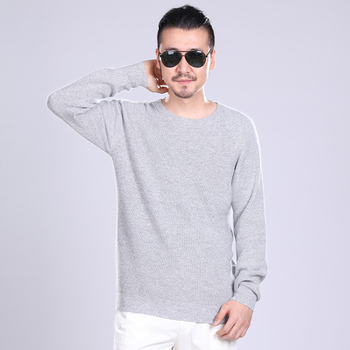 Man Sweaters 100% Cashmere and Wool Knitting Thicker Jumpers Men Winte Oneck Warm Pullovers Male Clothes Standard Knitwear Tops