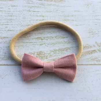 24pcs/lot Mini Fabric Bow Headband Soft Nylon Hair Band Infant Hair Accessroy