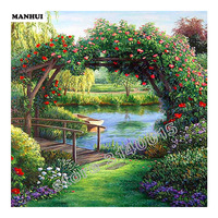 Daimond Painting Arches Scenery Diy Cross Stich Kits Needlework Mosaic Diamonds Embroidery Home Decoration Wall Sticker