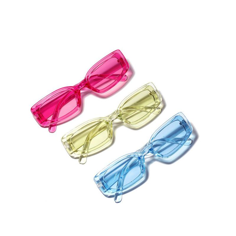 Vintage Small Square Sunglasses Women Retro Sunglass Rectangle Sun Glasses Female Candy Color Eyewears