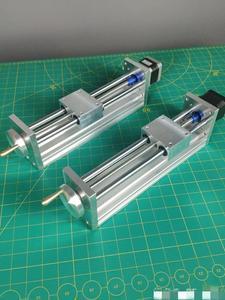 Image 5 - NEMA17/23 מנוע צעד CNC ציר Z שקופיות עבור Reprap 3D מדפסת CNC חלקי 170/270mm נסיעות CNC נתב לינארי תנועה מפעיל