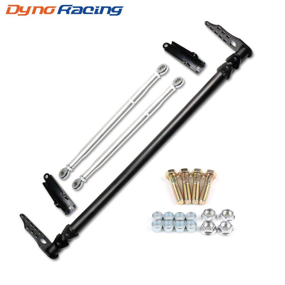 Dynoracing barra de Control de tracción de plata para Honda Civic 92-95 para Acura para Integra 94-01 para Honda DEL SOL 93-97