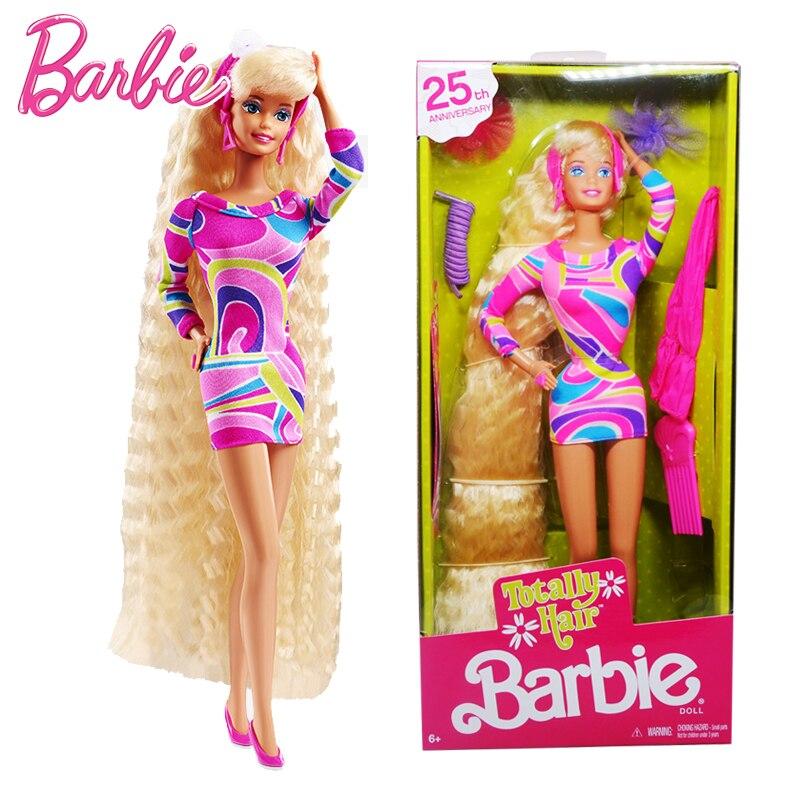 Bonecas Barbie originais 25th Coletor é Linda Princesa para As Meninas Do Bebê Brinquedos para Crianças Caçoa o Presente Brinquedos Bonecas