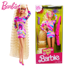 лучшая цена Original Barbie Dolls 25th Collector's Beautiful Princess for Baby Girls Toys for Children Kids Present Brinquedos Bonecas