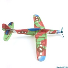 2018 Fashion Educational Mini Foam Handmade Throwing Flying Airplane Glider DIY Assembly Model Kid Toy 828 Promotion(China)