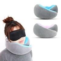 U-forma travesseiro de viagem pescoço travesseiros suporte pescoço acessórios de viagem 1 pcs confortável casa têxtil almofada de enfermagem do carro