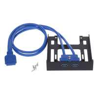 """Neue 20 Pin 3,5 """"Floppy Bay Front Panel 2 Ports USB 3.0 Expansion Adapter Stecker"""