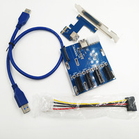 New Product Pcie Cards 1 To 4 Port Pci Express 1x Slot Riser Card Mini ITX