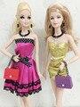 Ручной работы Ювелирные Изделия Серьги + Ожерелье Аксессуары Для Барби Fr 1:6 Куклы BBIEAR003