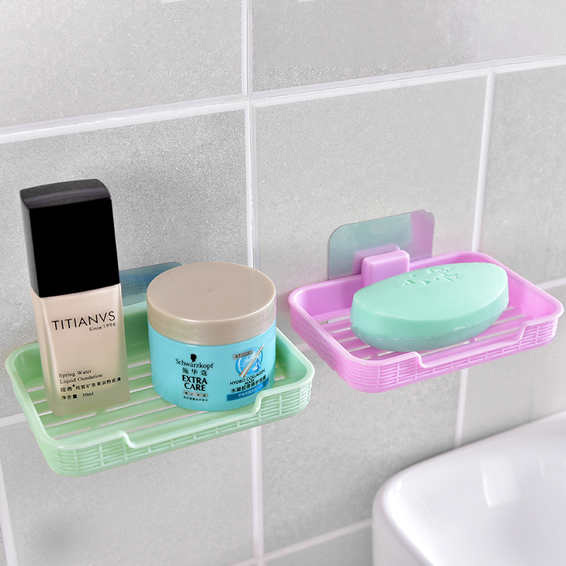 Bathroom Kitchen Accessories Sets Plastic Soap Dishes Vacuum Suction Cup Hook Holder Super Suction Hanging Rack Holder