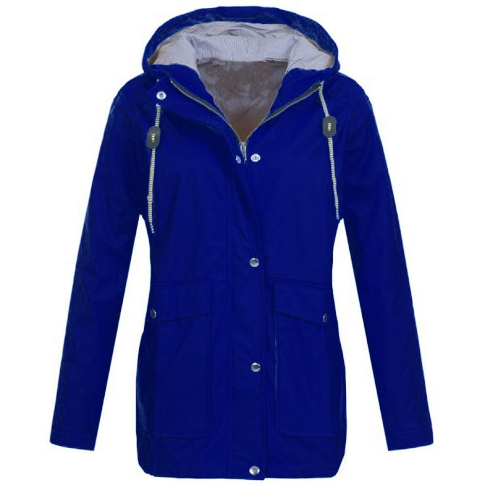 Imperméable Plein Manteau Feminino En Air À Bleu rouge Mode Moletom Veste Manteaux Coupe Pluie Plus vent Capuche Vestes Solide Femmes De kiXuOZP