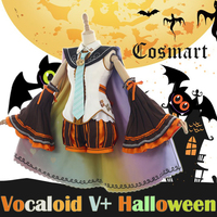 STOCK Wig 2017 Halloween Anime Vocaloid V Figure Miku Pumpkin Uniform Witches Role Play Cosplay