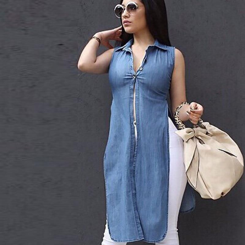 Aliexpress.com : Buy Denim Sexy Blouses For Women 2016 Topshop ...