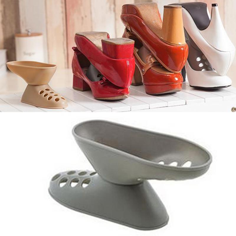 new creative style space saving plastic high heel shoe