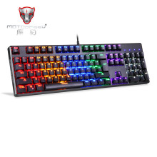 цена Official Sale! MOTOSPEED CK96 Gaming Wired Mechanical Keyboard 104 Keys Real RGB Blue Switch LED Backlit Anti-Ghosting for Game