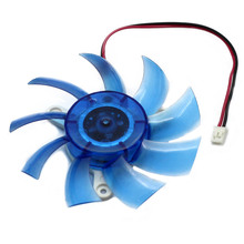 2016 Real Fan Controller Computer Water Cooler 30pcs/lot Free Shipping Blue Pc Vga Video Graphics Card Cpu Fan Cool 2-pin Fs025