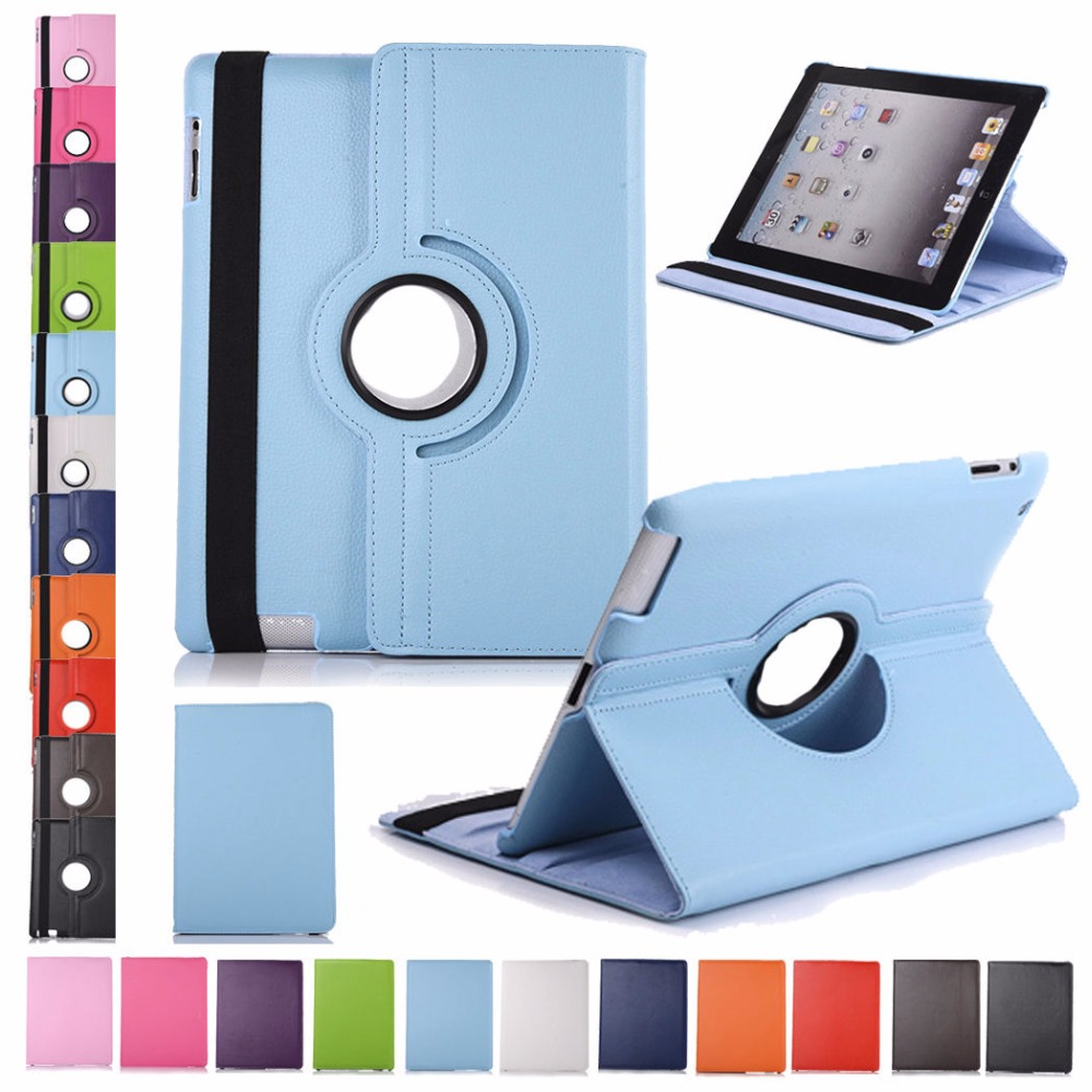 360 Rotation PU Leather case For iPad Air / Air2 / mini 3 2 1 Tablet cases flip PU Leather smart Cover For Apple iPad5 / ipad6 new rotation 360 degree rotating leopard flip stand pu leather protective skin cover case for apple ipad mini 1 2 3 7 9 tablet