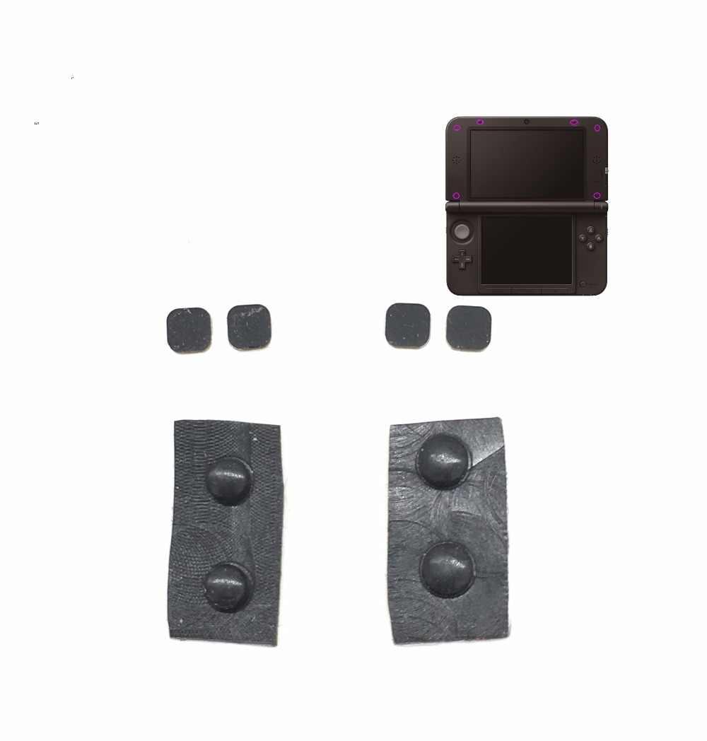 8 в 1 черные передние задние винты силиконовая прокладка Крышка для 3DS XL LL консоль винт резиновые ножки крышка набор