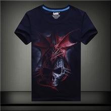 Summer anime dragon skull tee shirt men clothes emoji geek t-shirt tie dye funny t shirts hip hop t shirt man plus size GC516