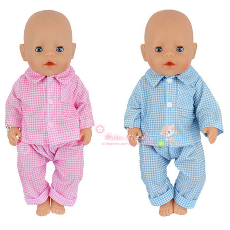 2color choose New arrival 1set clothes Wear fit 43cm Baby Born zapf,  Children best  Birthday Gift 2color choose leisure dress doll clothes wear fit 43cm baby born zapf children best birthday gift only sell clothes