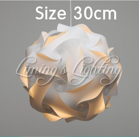 300MM Modern Contemporary DIY Elements IQ Jigsaw Puzzle ZE Lamp Shade Ceiling Pendant Lamp Ball Light Lighting 110-240V blue magnetic rotation p093 bsk piececool 3d laser cutting jigsaw puzzle diy metal model nano puzzle toys for audlt
