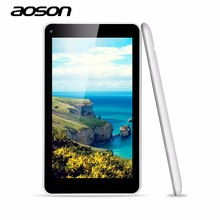 Cheapest Updated AOSON M751S-BS 7 Inch Tablets PC Netbook HD 1024*600 Allwinner A33 Quad Core Dual Camera 512MB/8G Android 4.4