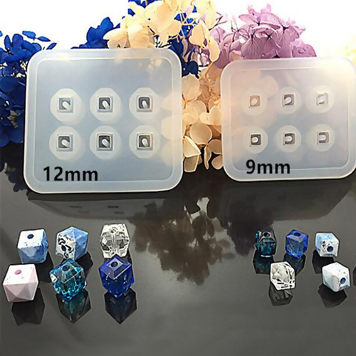 Silicone Resin Mold For Jewelry Making Square White Rhombus Faceted 72mm(2 7/8