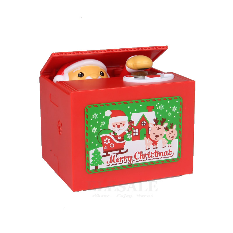 New Merry Christmas Santa Claus Electronic Piggy Bank Creative Money Box Auto Pick Coin Money Safe Box For Kids Gift Desk Toy сетевой фильтр эра sf 5es 2m w 2м белый [c0039530]