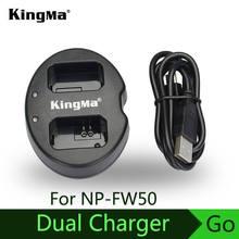 KingMa для sony NP-FW50 батарея двойной(двойной) Зарядное устройство Alpha 7 a7 Alpha 7R a7R 7S a7S a3000 a5000 a6000