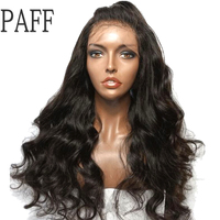 PAFF Deep Wave 13x6 Lace Front Human Hair Wigs For Black Women With Baby Hair Brazilian Remy Hair Pre Plucked Hairline