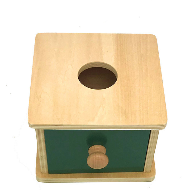 New wooden Baby Toy Montessori Wood SBall Square Drawer Matching Box Learning Educational Baby Gifts