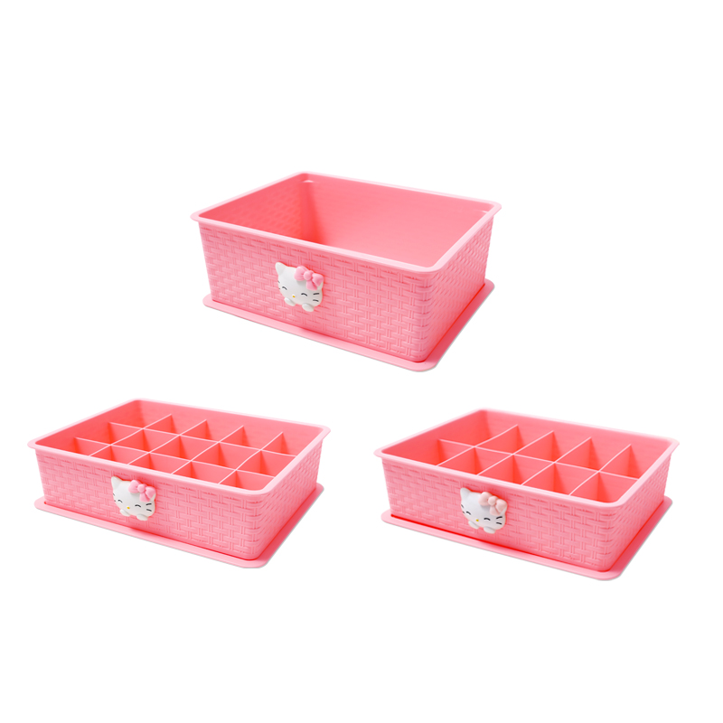 Home Underwear Panties Socks Storage Box Compartment Bra Multi Function With Cover 15 Grid Close Fitting Clothing Storage Box in Storage Boxes Bins from Home Garden