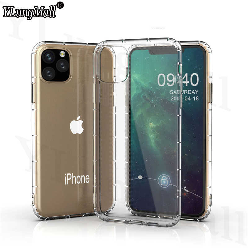 NEW Case For Funda iPhone 11 2019 on iPhone 11 Pro Max ShockProof Transparent Soft Back Cover for iPhone XR X XS Max Phone Case