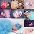 20 Color Newborn Fotografía Atrezzo Infantil Traje Traje de Princesa Falda Del Tutú Del Bebé de La Venda Del Bebé Apoyos de La Fotografía Accesorios