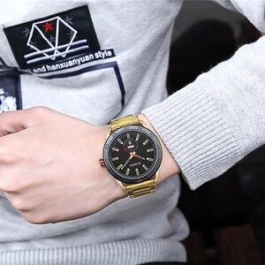Image 3 - CURREN zegarki dla mężczyzn mężczyzna luksusowy pasek ze stali nierdzewnej zegarek na co dzień styl kwarcowy na rękę zegarek z kalendarzem czarny zegar mężczyzna prezent