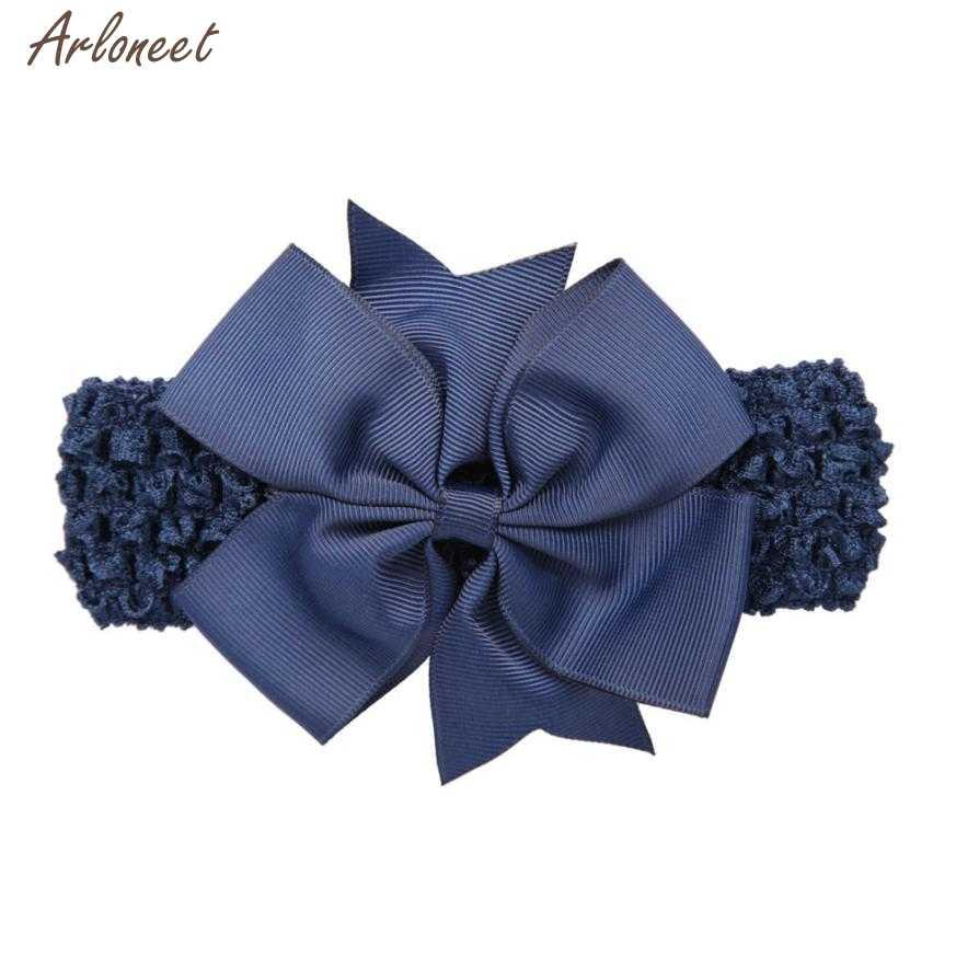 2019 детские повязки для девочек, однотонные аксессуары для волос с бантом для девочек, детская повязка на голову с цветком 27