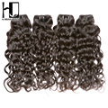 7A HJ Weave Beauty Brazilian Virgin Hair Water Wave Bundles 4Pcs/lot Cheap Unprocessed Human Hair Natural Color Free Shipping