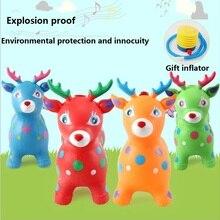 Детские надувные игрушки, подарки, музыка, Рождество, прыжки, олени, резина, утолщение, безопасность, ПВХ прыжки лошади