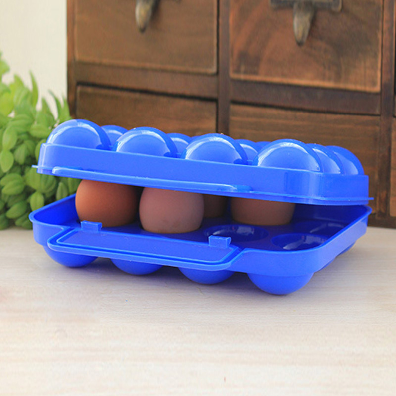 12 Grids Portable Camping Picnic Barbecue Outdoor Egg Box Convenient Kitchen Egg Storage Boxes