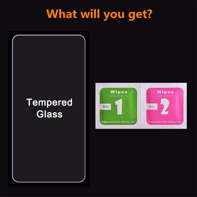 Tempered Glass For Xiaomi Redmi Note 7 5 8 9 Pro max mi 9T lite A3 Screen Protector glass on Redmi note 9s 7 8 9 Pro max glass