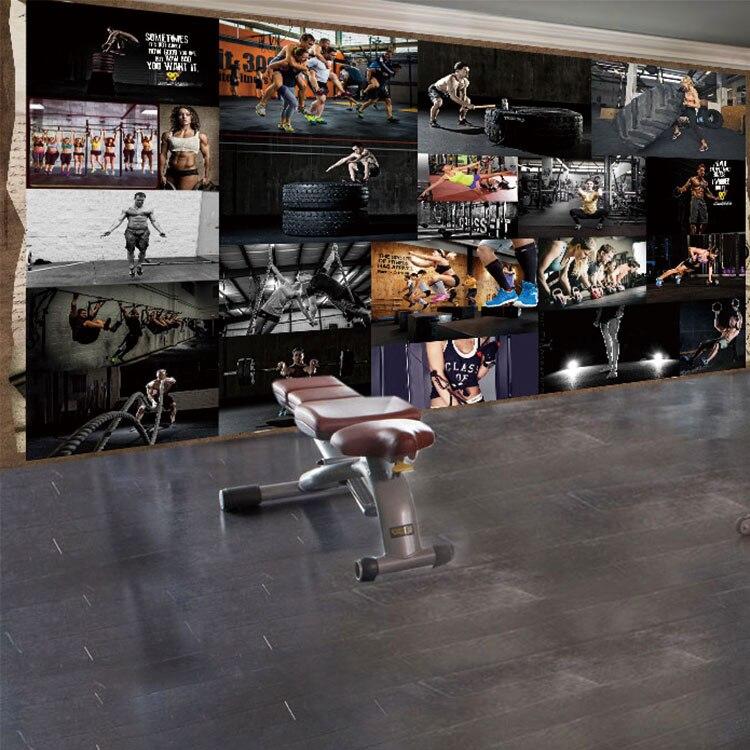 Benutzerdefinierte 3d Wandbild 3D Europa Vereinigte Staaten Muscle Typ  Fitness Modell Wandbild Gym Personalisierten Schlafzimmer Wohnzimmer  Wandbild Tapete ...