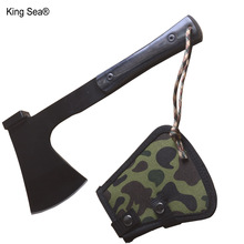 Королевский морской топор с деревянной ручкой для выживания на открытом воздухе, высокое качество, многофункциональный Томагавк, армейский топор для повседневного использования, походный топор, топор для горной резки