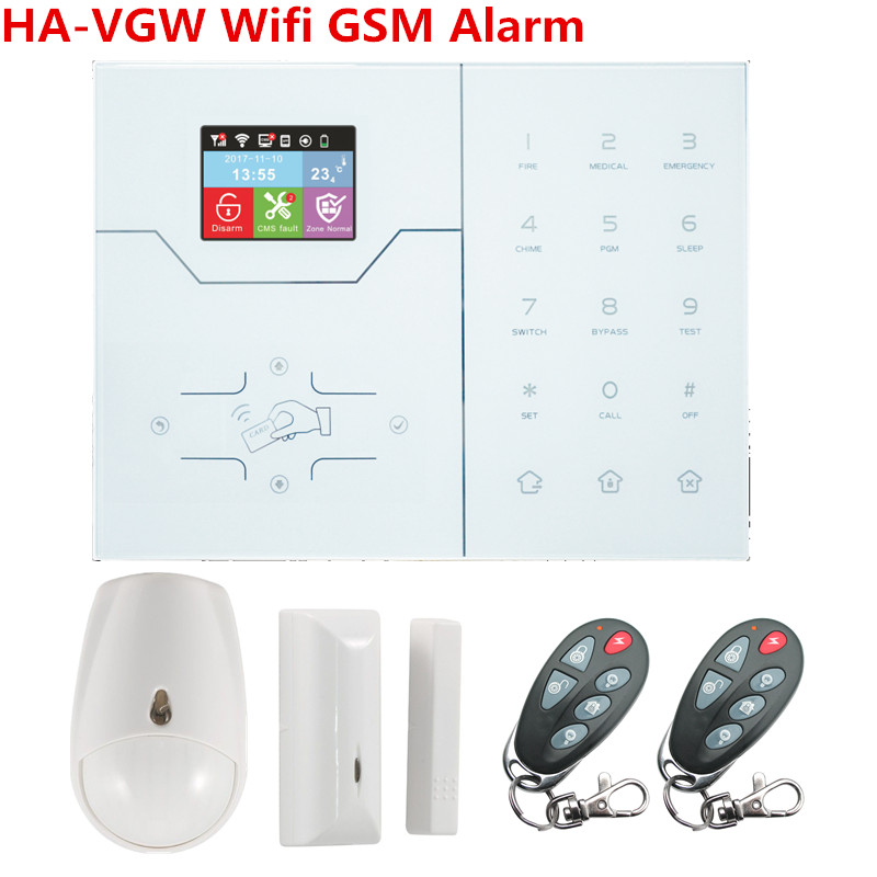 2018 latest HA-VGW wifi GSM GPRS Home Smart Alarm system built in Temperature Sensor