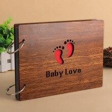 Cartes noires auto adhésives en bois pour mariage Vintage, 8 pouces, Album Photo, Scrapbook, Album en papier de bébé
