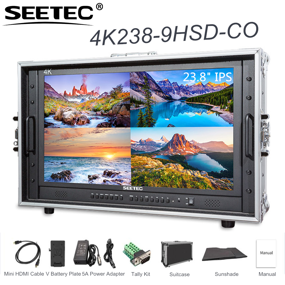SEETEC 4K238 9HSD CO 23 8 4K 3840x2160 Ultra HD Resolution Carry on Broadcast Monitor with