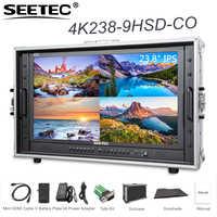 SEETEC 4K238-9HSD-CO 23.8 4 K 3840x2160 moniteur de diffusion de résolution Ultra-HD avec valise pour faire un champ vidéo de film