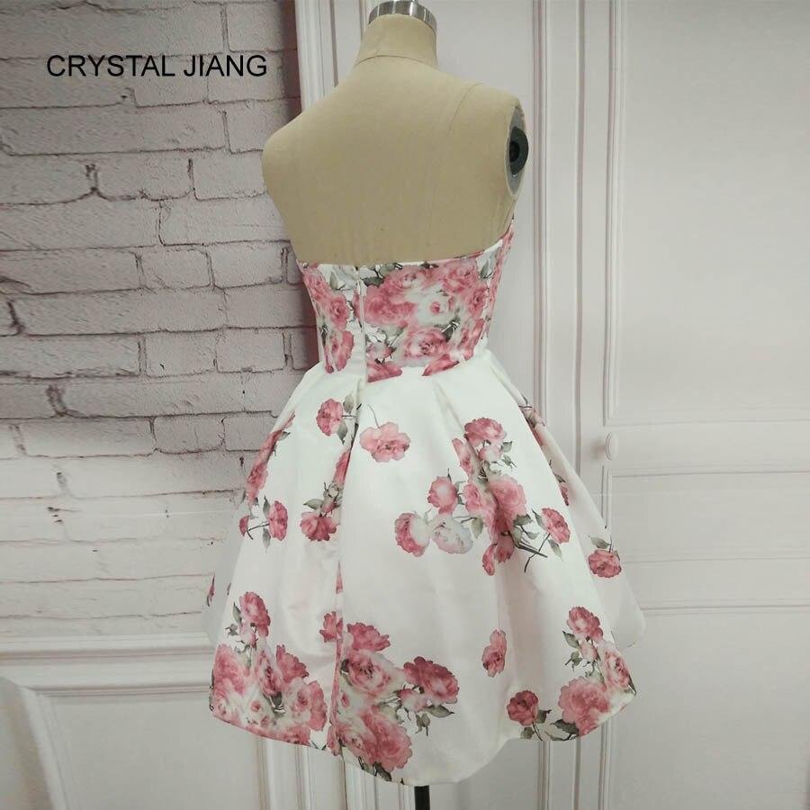 CRYSTAL JIANG 2018 Απλό σχέδιο γλυκιά Floral - Ειδικές φορέματα περίπτωσης - Φωτογραφία 3