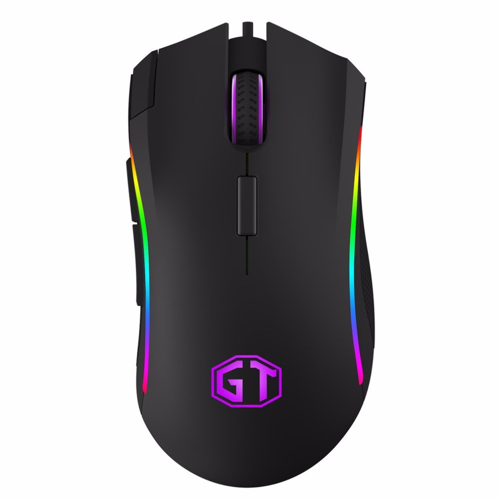Delux USB Gaming Mouse One-piece Design With Awesome RGB Light Matt ABS Shell Classic Black Mouse Hot Sale Drop Shipping